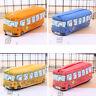 Bus Large Capacity Canvas Pouch Storage School Pencil Case  Makeup Bag 13CA