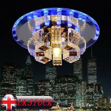 Modern LED Crystal Ceiling Light Pendant Lamp Fixture Chandelier Home Decor UK