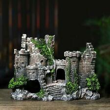 New Aquarium Ornaments Resin Castle Decorations Artificial Rock For Fish Tank