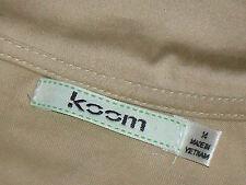 KOOM FrilledNudeFrontZipStretch97%CottonMix Size14
