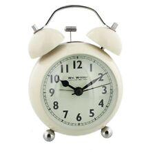 WM.Widdop DOUBLE BELL Alarm Clock Arabic Dial - Vintage Classic Cream 12cm Gifts