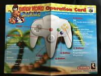 Nintendo 64 N64 Diddy Kong Racing Operation Card Only