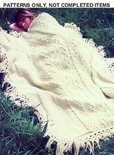 Afghans Knitting Crochet PATTERNS Dominos Nautical Aran Ripple Floral