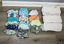 New ListingLot Of 17 Reusable Diapers And 30 Inserts