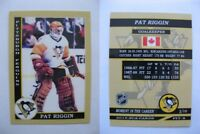 2015 SCA Pat Riggin Pittsburgh Penguins goalie never issued produced #d/10