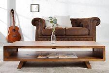 """Massivholz TV-Board Couchtisch """"HAMLA"""" Sheesham 100cm Retro Vintage Wohnzimmer"""