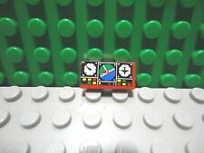 Lego 1 Red 1x2 tile with sticker of airplane gauges