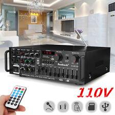 800W 110V 2Ch Bluetooth Home Stereo Amplifier Powered Equalizer EQ Karaoke SD