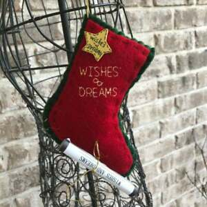 Wishes and Dreams Christmas Stocking Ornmament Vintage 1990s Star Nostalgia