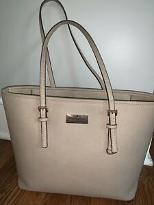 Kate Spade New York Beige Tote Bag - Authentic