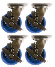 "5"" x 2""  Solid Polyurethane Wheel Caster - 4 Swivel with Brake"