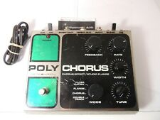 Vintage Electro Harmonix Stereo Polychorus Flanger Chorus Effects Pedal Original