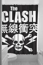 The Clash Shower Curtain NEW Skull Joe Strummer 1977 Punk Rock Licensed Sourpuss