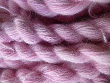FIVE skeins pink 100% angora bunny rabbit fur yarn lot