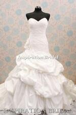 1331 White Ivory wedding dress Prestyn J1395 sweetheart neck ball gown maggie