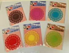 New listing 6 Cup Pad Holder Hollow-out Lace Pattern Non-slip Round Mat Coaster set New