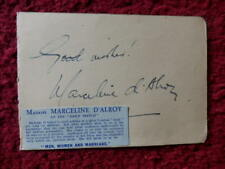 MARCELINE D'ALROY / HALLIDAY SUTHERLAND - AUTHORS  - AUTOGRAPHS
