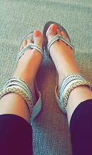 Well worn gladiator sandals flip flips flats