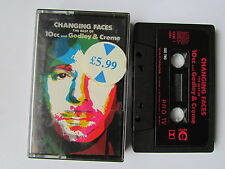 10cc & GODLEY & CREAM, THE BEST OF, CHANGING FACES, 1987 CASSETTE, TESTED.