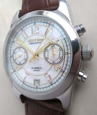 Russian WATCH Chronograph MAKTIME , mother of pearl dial, Movement 3133 POLJOT