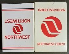 2 Decks Northwest & NW Orient Airlines Advertising NOS Playing Cards Aviation