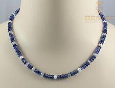 Kyanit-Kette - blaue Disthen Halskkette Cyanit mit Beryll und Perlen