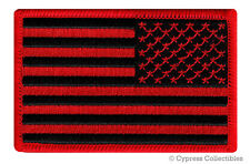 AMERICAN FLAG MOTORCYCLE BIKER PATCH BLACK RED LEFT embroidered iron-on US USA