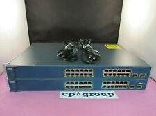 LOT OF 2 Cisco Catalyst WS-C3560-24TS-S 24-Port 10/100 Rackmount Ethernet Switch