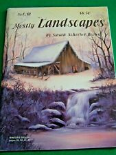 SUSAN SCHEEWE BROWN 1990 MOSTLY LANDSCAPES V18 OILS  PAINTING WATERFALLS BARNS