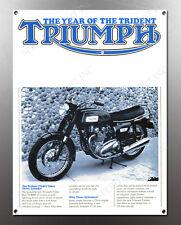 VINTAGE TRIUMPH 750cc TRIDENT IMAGE BANNER NOS IMAGE REPRODUCTION
