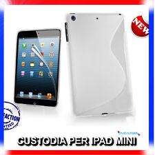 Pellicola+Custodia cover case WAVE BIANCA per IPAD Mini & 2 & 3