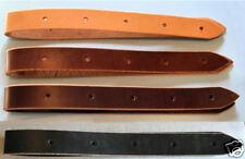 Amish made Latigo Genuine Leather 3-foot OFF BILLET Saddle Cinch Strap LIGHT OIL