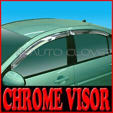 Chrome Window Visor Vent For 06 09 Hyundai Accent Verna