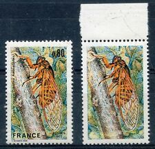 """FRANCE YVERT 1946 b """" RED CICADA VARIETY WITHOUT INSCRIPTIONS """" MNH XF SIGNED R6"""
