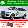 New 2 x Butterfly Flowers Car Stickers Large Side Vinyl Rally Race Car Decals 2