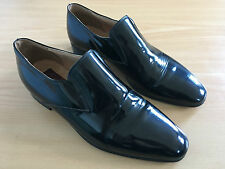 Mocassins Cuir Vernis - Patent Loafers Slip-on 9.5US - Made in France - Rare