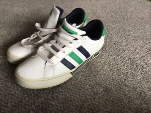 mens adidas classic trainers, Vintage Size 8. 42