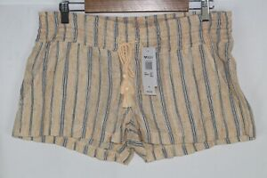 Roxy Women's Oceanside Shorts Large Sahara Sun Playa Stripe