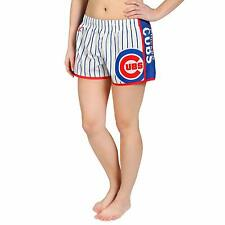 Forever Collectibles MLB Women's Chicago Cubs Pinstripe Shorts