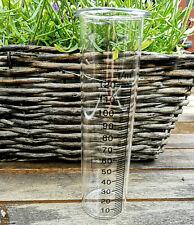 Ersatzglas Glaseinsatz 13.3 x 3.7cm Regenmesser Niederschlagsmesser Reagenzglas