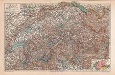 Antique map. SWITZERLAND. 1905