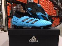 Adidas Junior Predator 19.3 FG Soccer Cleats (Cyan/Black) Size: 10k-6y NEW!