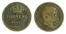 pci2255) Napoli Regno delle Due Sicilie Ferdinando II - 10 Tornesi 1838