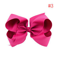 Girls Big Bows Boutique Hair Clip Pin Alligator Clips Grosgrain Ribbon Bow Sale