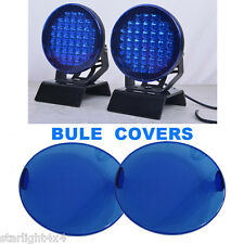 Pair bule led driving lights lens covers suitable & protective & safety & useful