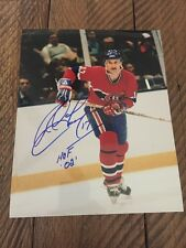 Rod Langway 8x10 Autographed Photo. Montreal Canadians. HOF '02
