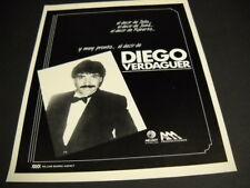 Diego Verdaguer el decir de Julio - Jose - Roberto 1985 Promo Poster Ad