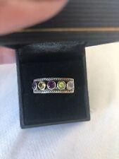Nicky Butler Ring Sterling Silver 925 Multi Gemstone Sz 11