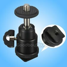 "1/4"" Hot Shoe Swivel Ball Head Flash Bracket Holder Mount Screw fr Camera Tripod"