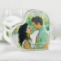 Wedding Cake Topper Heart Photo Love Decorations Supplies
